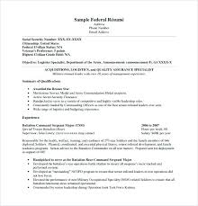 Writing A Government Resume Example Federal Template Free Regarding