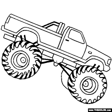 Monster Truck Coloring Pages Letscoloringpages Bigfoot2
