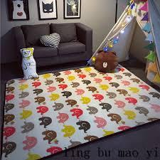 tapis chambre d enfant 2016 chaude tapis de jeu d enfants éléphant motif bébé rer pad