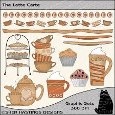 Latte Carte Clipart And Graphic Set Restaurant Food Kitchen