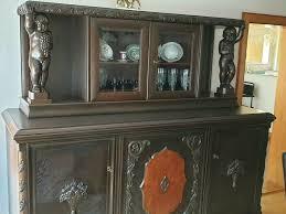 anrichte antik restauriert möbel schrankwand wohnzimmer