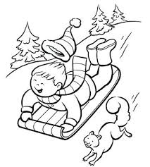 Free Printable Coloring Pictures For Toddlers Alphabet Pages Sledding Down The