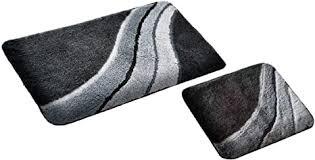 s s shop badematte set grau kiel 2 teilig rutschfest