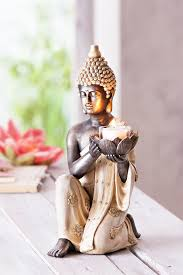 dekofigur buddha mit teelichthalter bestellen weltbild de