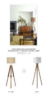Surveyor Style Floor Lamps by Restoration Hardware Surveyor U0027s Tripod Floor Lamp Copycatchic