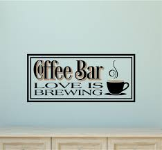 Coffee Bar Love Is Brewing Kitchen Decor Vinyl Decal Wall Stickers Letters