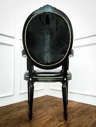 Nolie & Finn Collection: King Louis XVI Black Knight Armchair