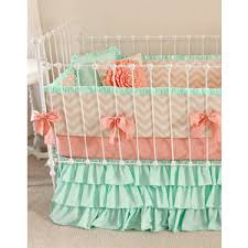 mint peach baby bedding crib bedding baby bedding