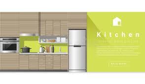 Interior Design Modern Kitchen Background 5 Stock Vektor Interior Design Modern Kitchen Background Stock Vector