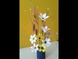 Easy Desk Decoration Ideas Best Out Of Waste Craft Flower Video