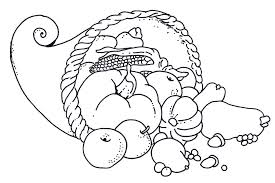 Healthy Foods Colouring Pages Pic