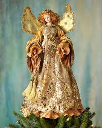 Katherines Collection Golden Angel Christmas Tree Topper