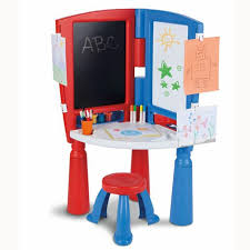 Easel Desk With Stool by Little Tikes 2 In 1 Art Desk U0026 Easel Review