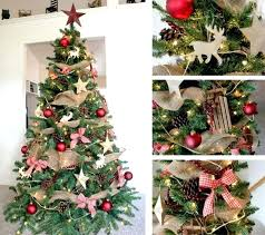 Rustic Christmas Trees Tree Decorating Ideas Images About A Burlap On