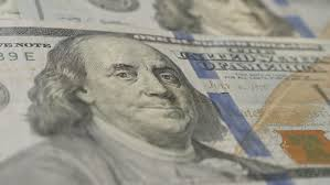 Rotation Paper Money Close up Background With Money American