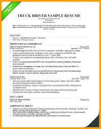 Truck Driver Resumes Resume Cover Letter Trucking Sample Stylish Ideas 8 Company S Job