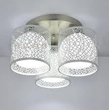 semi flush mount ceiling lights 3 light white hardware shade