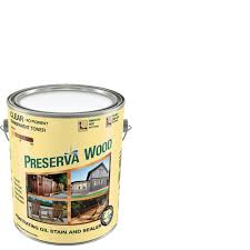 Thompsons Waterseal Deck Wash Msds by Preserva Wood 1 Gal Oil Based Clear Penetrating Stain And Sealer