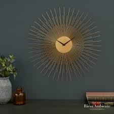 extravagante wanduhr infinity home 50cm gold wanddekoration
