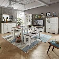 komplettset wohn und esszimmer jülich 36 in pinie weiß und artisan eiche nb wohnwand b h t 359 204 51cm
