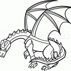 Minecraft Creeper Coloring Pages Dragon