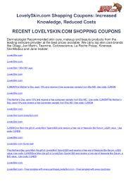 Lovelyskin.com Shopping Coupons By Ben Olsen - Issuu