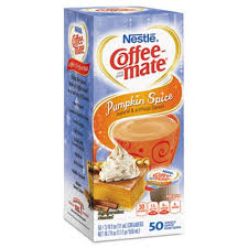 Coffee Mate Liquid Creamer Mini Cup Pumpkin Spice 50 Box 4 Boxes NES75520CT