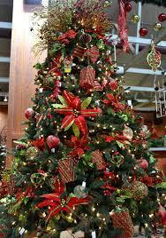 Christmas Morning Tree Bright Red Green
