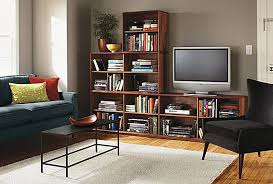 Living Room Bookshelf Decorating Ideas Of Goodly Divider Rustic Decorated Free