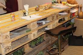 fabriquer un bureau avec des palettes bar en palette en bois recherche établi shop