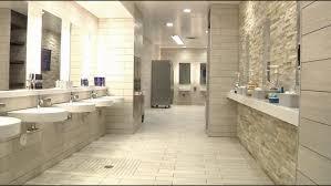 interior attractive bathroom design using white brick wall