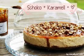 karamellcheesecake mit schokolade mit frischkäse