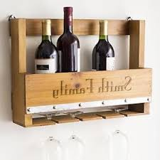Image Is Loading Personalized Rustic Style 5 Bottle Wall Mounted Wine