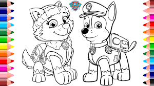 Maxresdefault Paw Patrol Coloring Pages Skye And