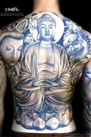 Asian Art Buddha Tattoo On Back