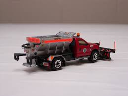 100 Rc Truck With Plow Matchbox Ford F550 Hooklift HOT WHEELS N MATCHBOX By
