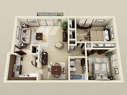 104 Two Bedroom Apartment Design 2 Decorating Ideas Small House Plans Modern House Plans House
