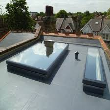 affordable flat roof front porch ideas with skylights
