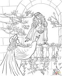 Click Romeo And Juliet In The Garden Coloring Page For Printable Within Pages
