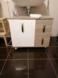 badezimmermöbel schrank und waschbecken unterschrank sonoma eiche