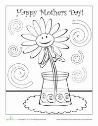Preschool Holidays Seasons Worksheets Happy Mothers Day Coloring Page
