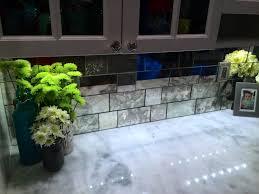 Glass Tiles For Backsplash by Kitchen Mirror Backsplash For Kitchen New York Youtube Mirrored