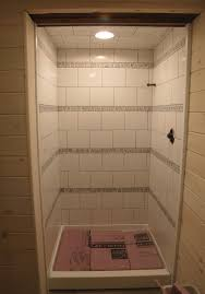 The Tile Shop Commack by Shower With Horizontal Stripes Of Biltmore Stone Mosaic And White