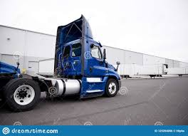 100 Semi Truck Pictures Big Rig Day Cab Blue Driving To Warehouse Dock For Pi