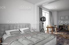loftdesignschlafzimmer stockfoto und mehr bilder altertümlich