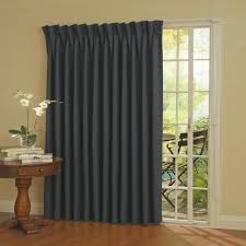 Traverse Rod Curtains Walmart by Eclipse Thermal Blackout Patio Door Curtain Panel Walmart Com