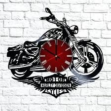 Harley Davidson Clock Vinyl Record Wall Home Decor Canada