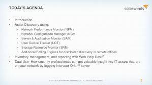 Solarwinds Web Help Desk Reports by Q42015 Solarwinds Federal Se Webinar Best Practices For It Asset Di U2026