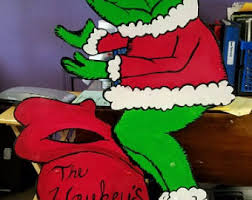 Grinch Outdoor Christmas Decorations by Grinch Yard Art Etsy