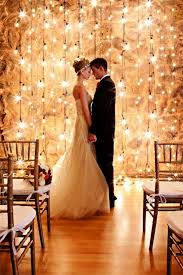 Gallery Indoor Edison Bulb Rustic Wedding Backdrop Decor